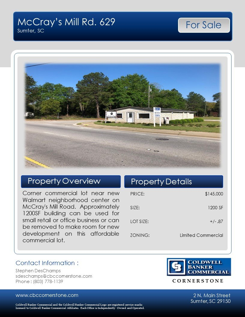 629 McCrays Mill Rd, Sumter, SC 29150, Sumter, South Carolina 29150